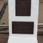 Plaques with poem and acknowlegements